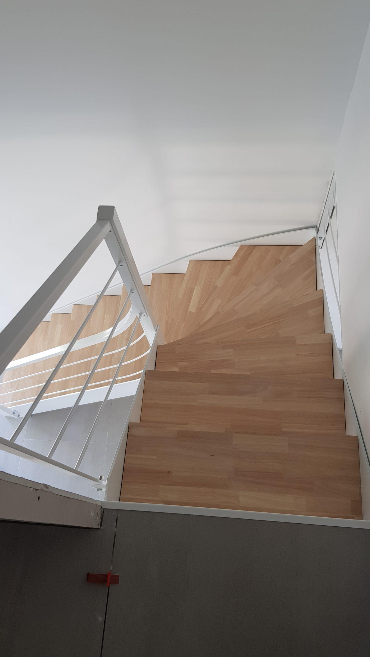 Escalier quart tournant Fer et Tandance Toulouse artisan ferronnier