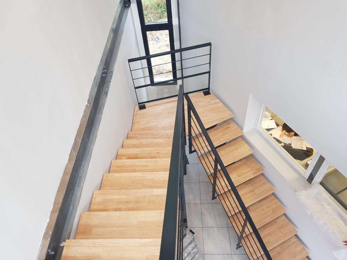 Escalier en acier et bois Fer et Tendance Balma