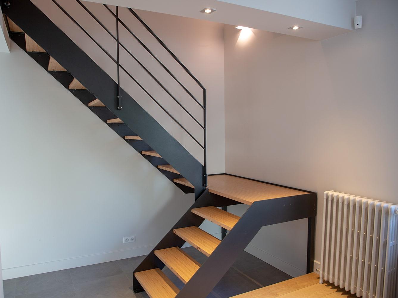Escalier double quart tournant à limon plat Portet-sur-Garonne
