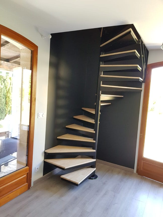 Escalier hélicoidal en acier