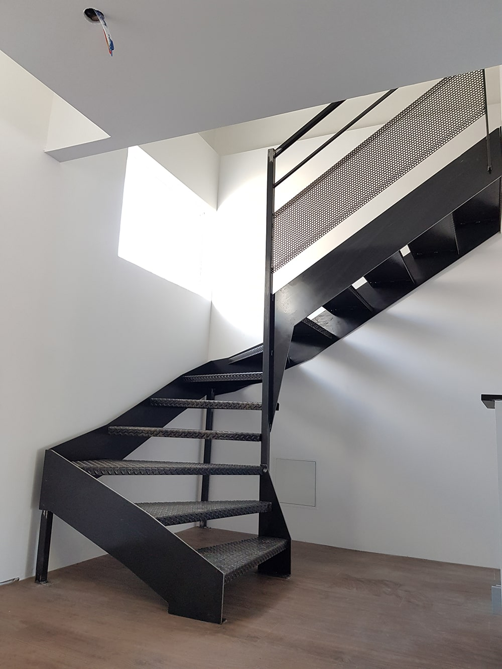 Escalier quart tournant en acier Ramonville
