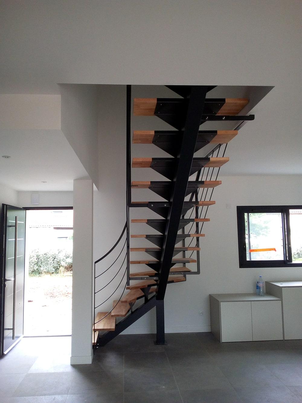 Escalier quart tournant Fer et Tendance