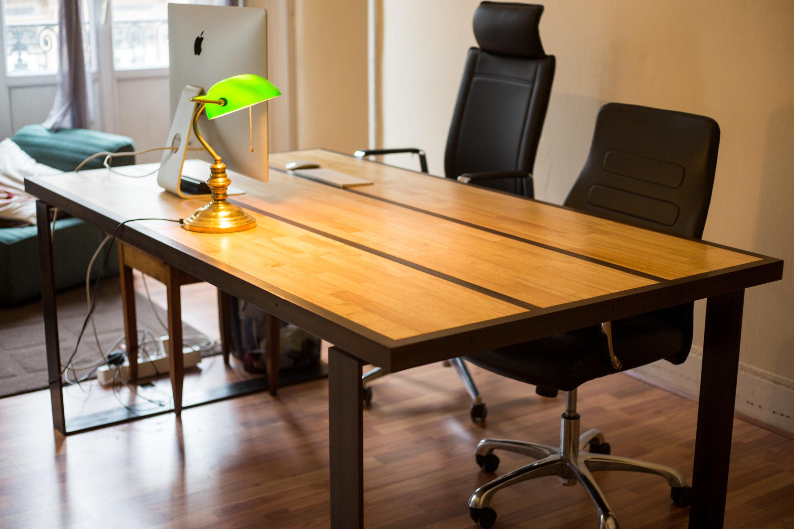 fer et tendance ferronnerie sur mesure table acier bois toulouse