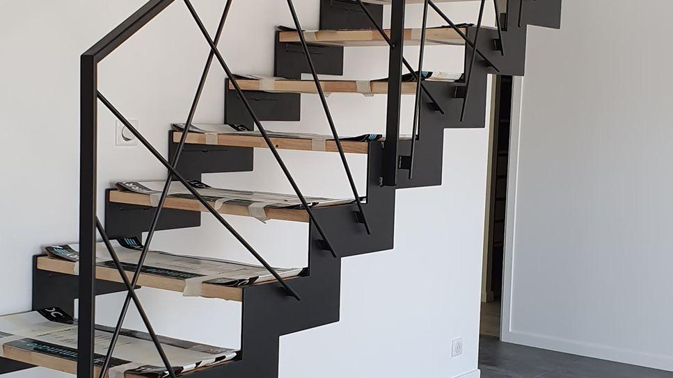 escalier à crémaillère métal design