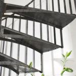 escalier colimacon acier fer et tendance toulouse