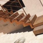 escalier extérieur acier brut à Toulouse