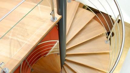 Escalier métal en colimaçon à Toulouse