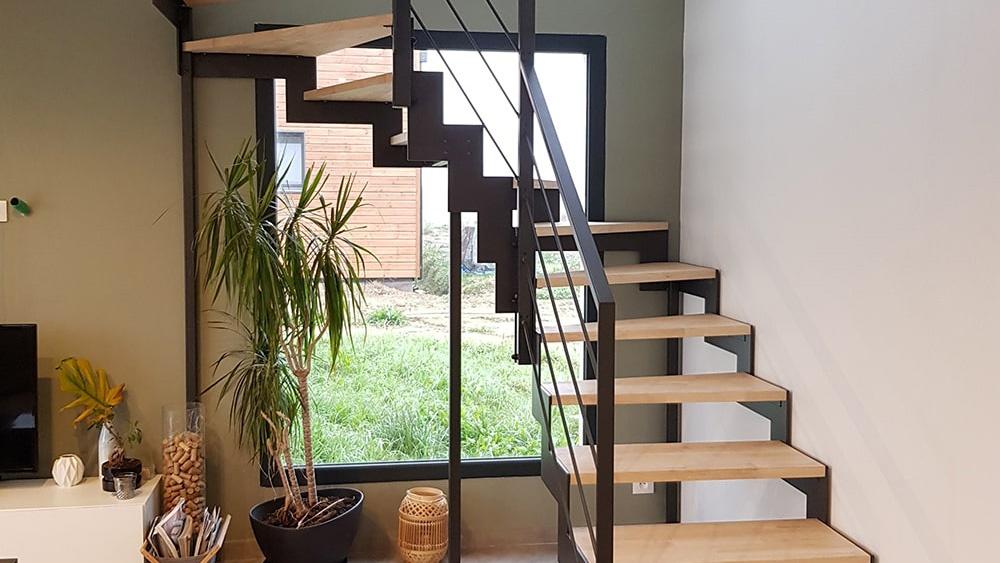 Escalier deux quart tournant design