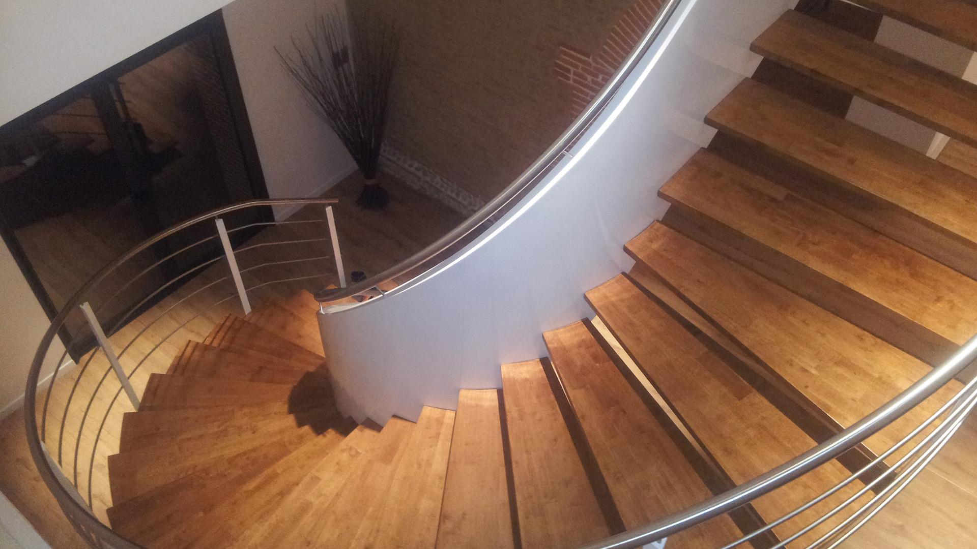 escalier à limon hélicoïdal