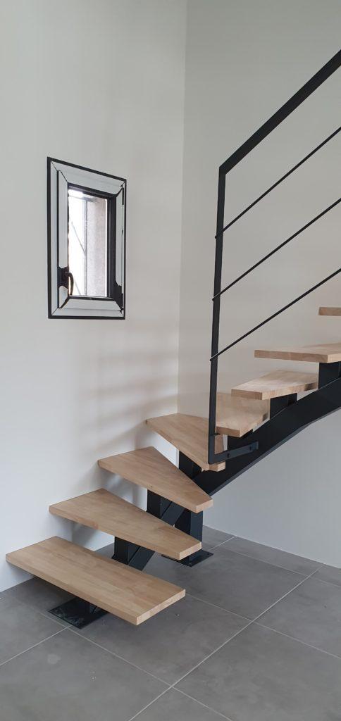 Escalier fer et bois Toulouse Fer et Tendance