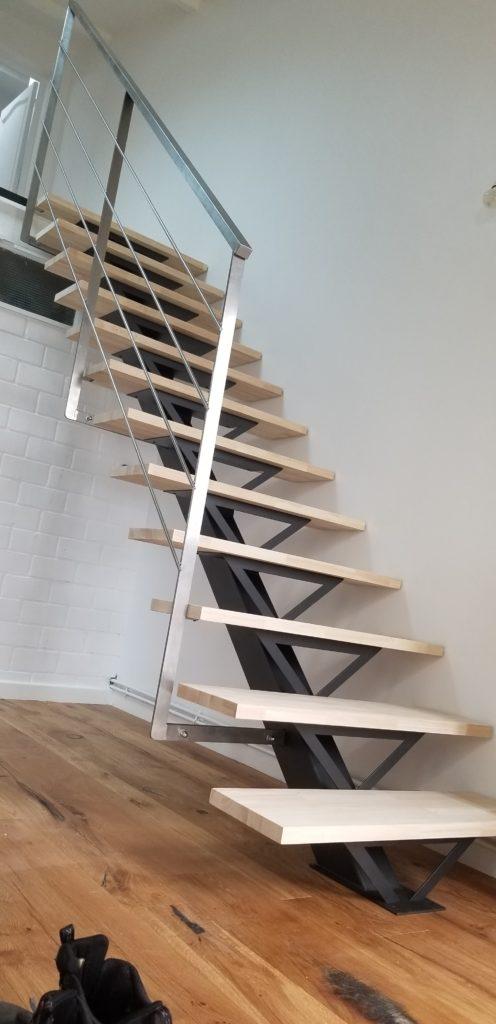 Escalier intérieur bois et métal Toulouse Fer et Tendance