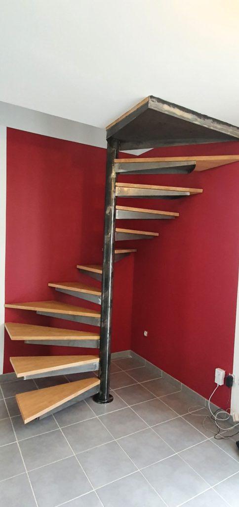 Escalier colimaçon intérieur Toulouse Fer et Tendance ferronnier
