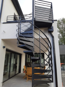 Escalier hélicoïdal extérieur