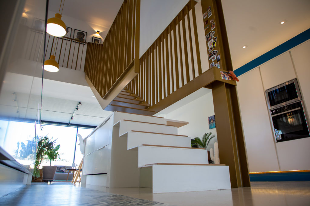 Escalier métal et bois design Toulouse Fer et Tendance