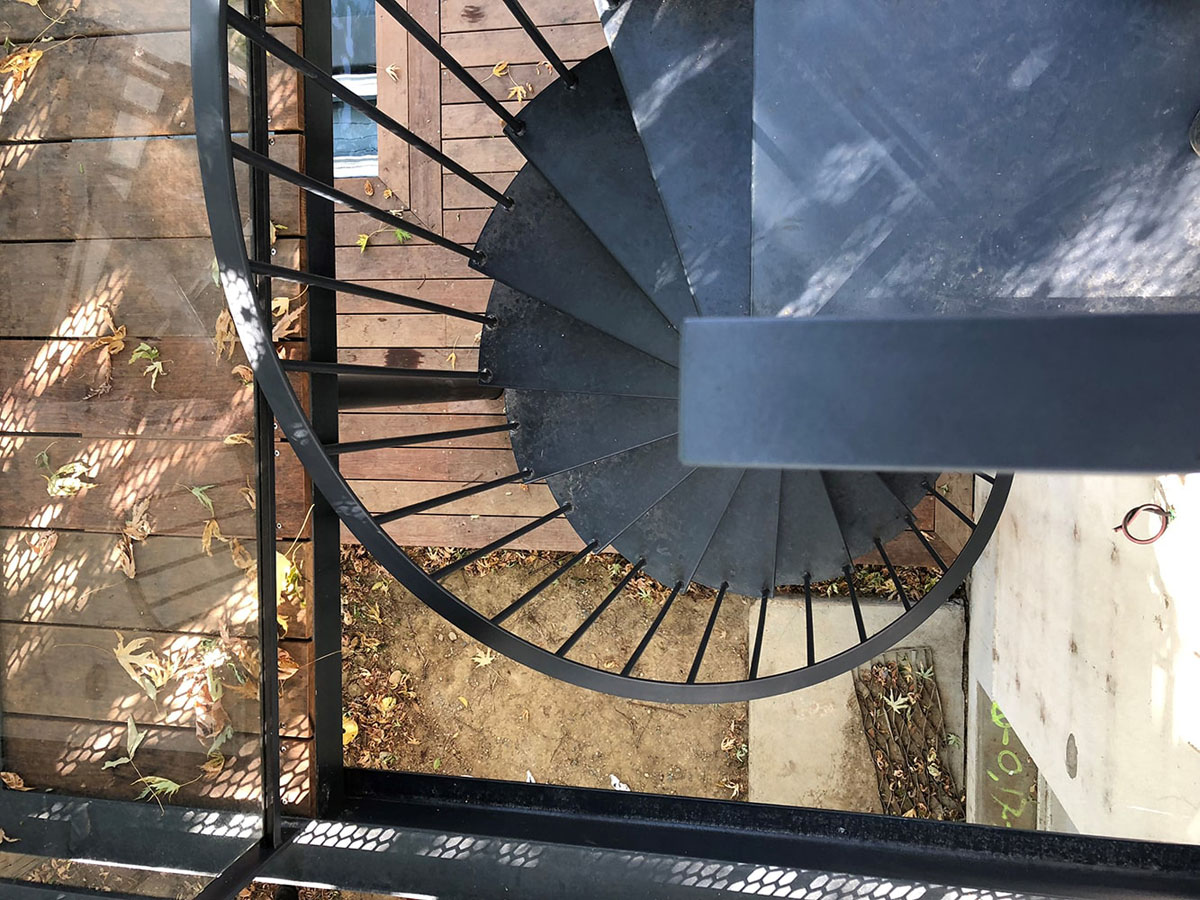 Escalier colimaçon fer et trendance Toulouse